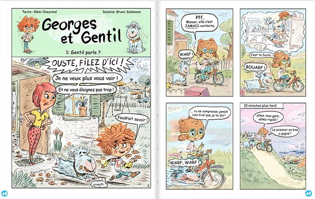 Georges et Gentil - BD enfant, chien, animal, histoire drôle, 7 ans