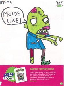 concours Mordelire de novembre 2019 (n° 382), «Imagine un zombie » : Emma. L (50)