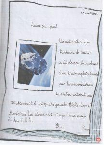 """Concours Mordelire """"Fais ta une !"""" - Élise 8 ans"""
