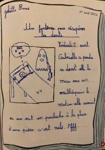 """Concours Mordelire """"Fais ta une !"""" - Juliette 8 ans"""
