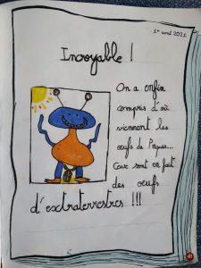 """Concours Mordelire """"Fais ta une !"""" - Kamil 7 ans"""