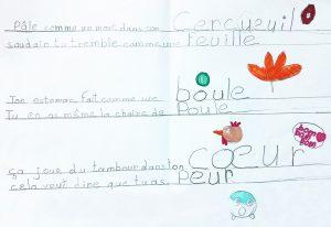 concours-morConcours MordeLIRE Poème à trou(ille) -Estelle, 9 ans