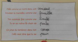 Concours MordeLIRE Poème à trou(ille) - Gauthier, 7 ans