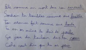 Concours MordeLIRE Poème à trou(ille) - Maël, 9 ans