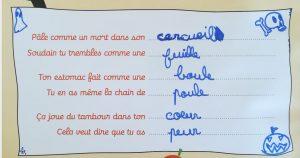 Concours MordeLIRE Poème à trou(ille) - Samuel, 7 ans et demi
