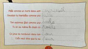 Concours MordeLIRE Poème à trou(ille) - Soline, 9ans
